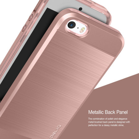 obliq slim meta iphone se case rose gold mobilezap. Black Bedroom Furniture Sets. Home Design Ideas