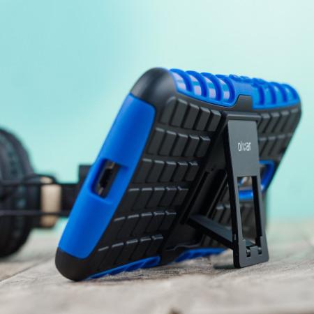 olixar armourdillo moto g4 plus protective case blue 5