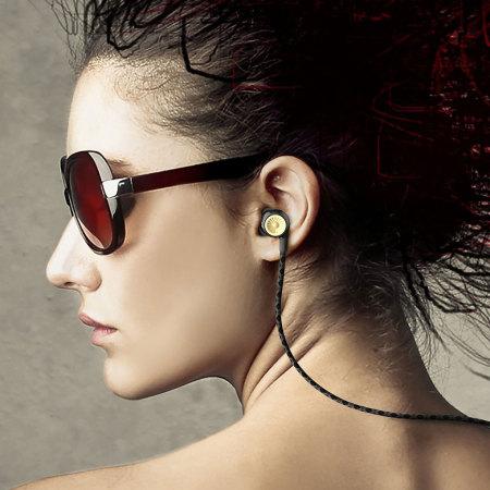 ghostek turbine series hd sound hands free earphones black gold