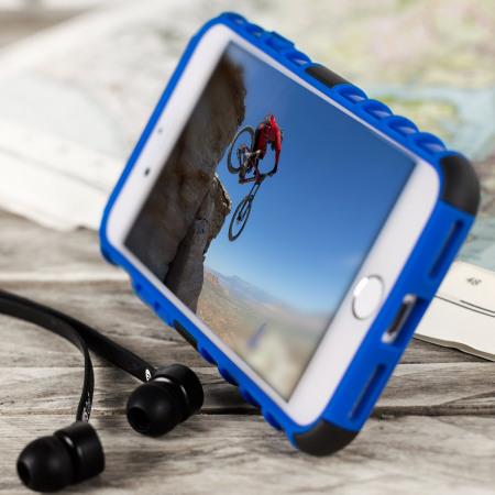 olixar armourdillo iphone 7 protective case blue 3 one sure