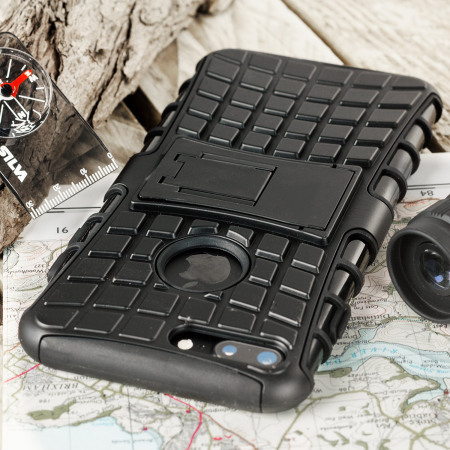 (video) olixar armourdillo iphone 7 plus protective case black international n-2971