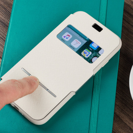 moshi sensecover iphone 7 smart case stone white