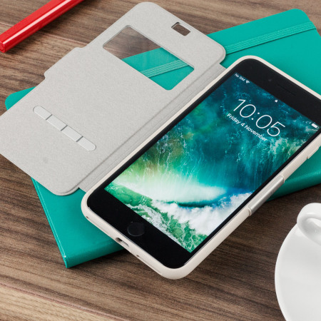 moshi sensecover iphone 7 plus smart case stone white