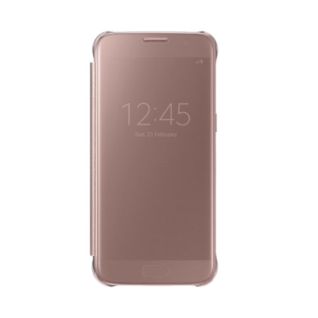official samsung galaxy s7 clear view cover case rose gold reviews mobilezap australia. Black Bedroom Furniture Sets. Home Design Ideas
