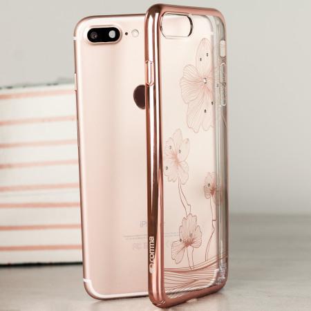 crystal flora 360 iphone 7 case rose gold