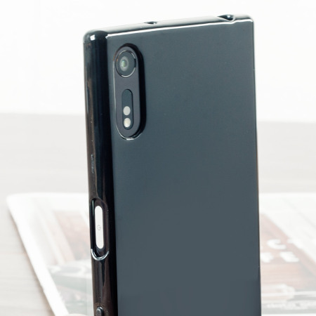 the phone olixar flexishield sony xperia xz gel case solid black design