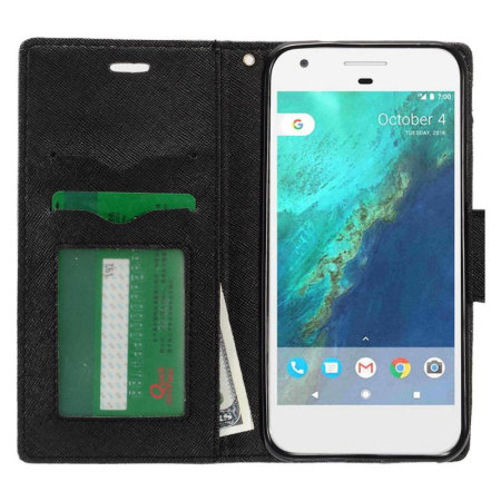 may zizo google pixel flip wallet cover black 1