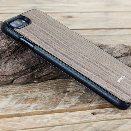 July mozo iphone 6s 6 wood back cover black walnut believe