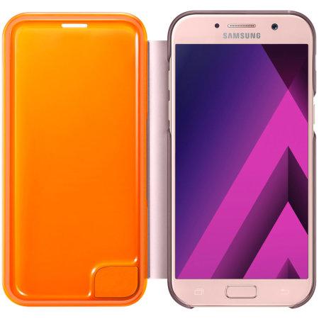 samsung flip phones 2017. official samsung galaxy a5 2017 neon flip cover - pink phones