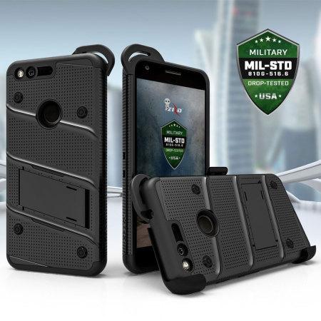 with the zizo bolt series google pixel xl tough case belt clip black will