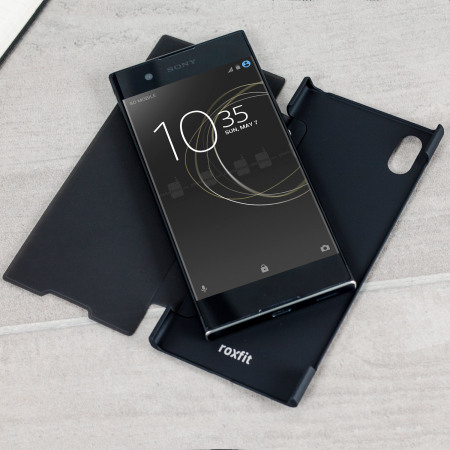 roxfit sony xperia xa1 pro touch book case   black