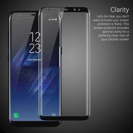 3D Curved Full Cover Tempered Glass For Samsung Galaxy S8